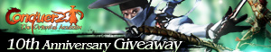 Conquer Online 10th Anniversary Giveaway