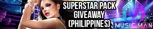 Music Man Online Free Superstar Pack Giveaway (Philippines)