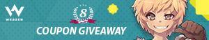 Webzen Free 8th Anniversary Giveaway