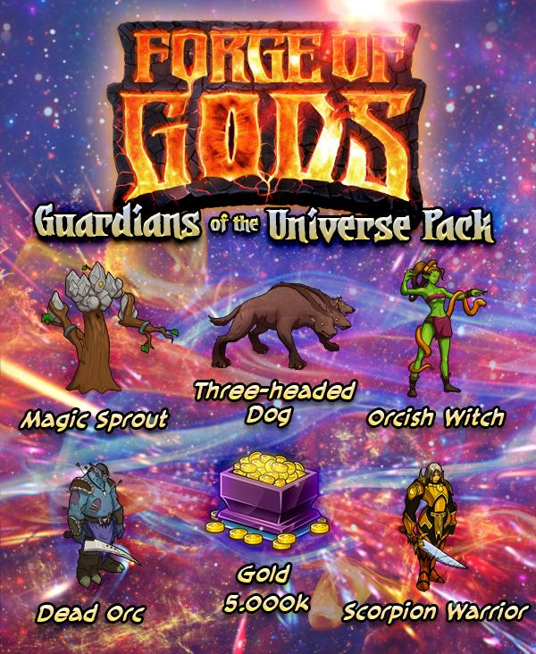 Forge of Gods giveawayFree Guardians of the Universe Pack