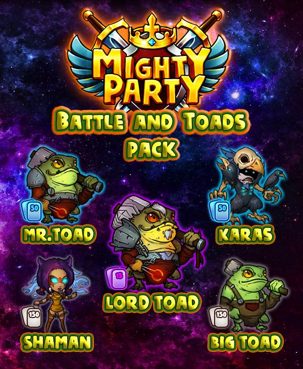 Mighty Party Giveaway free Battle and Toads