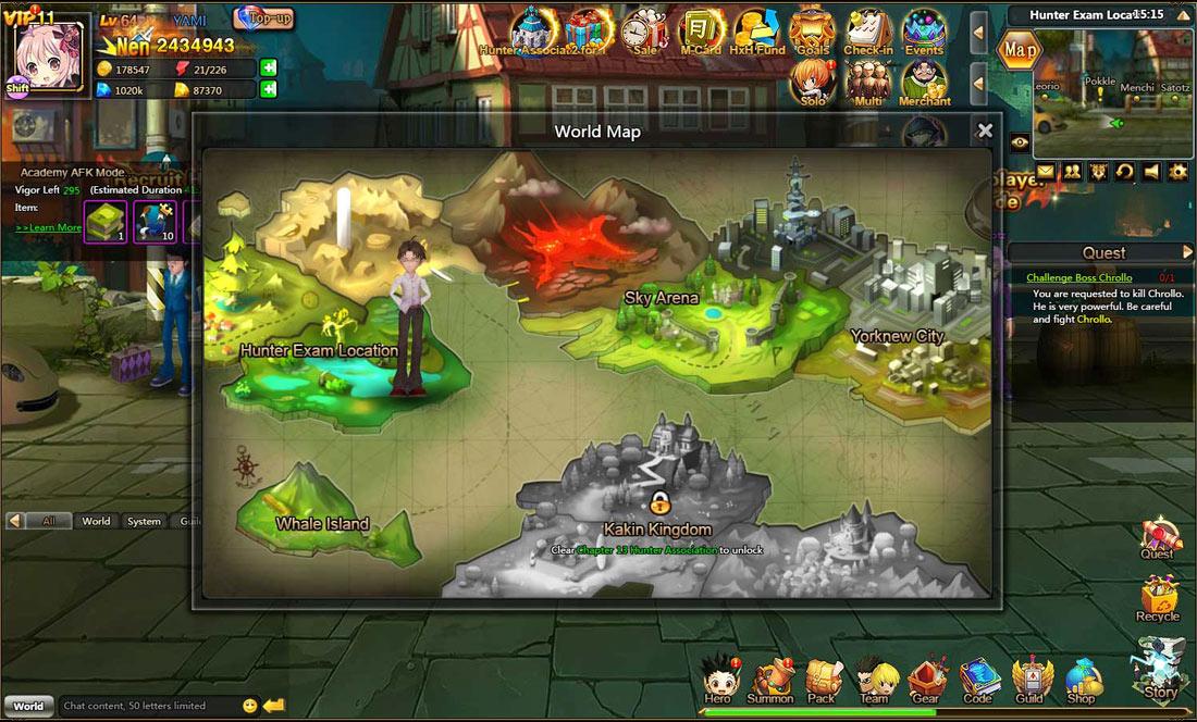 Hunter X Hunter Online Game Peatix