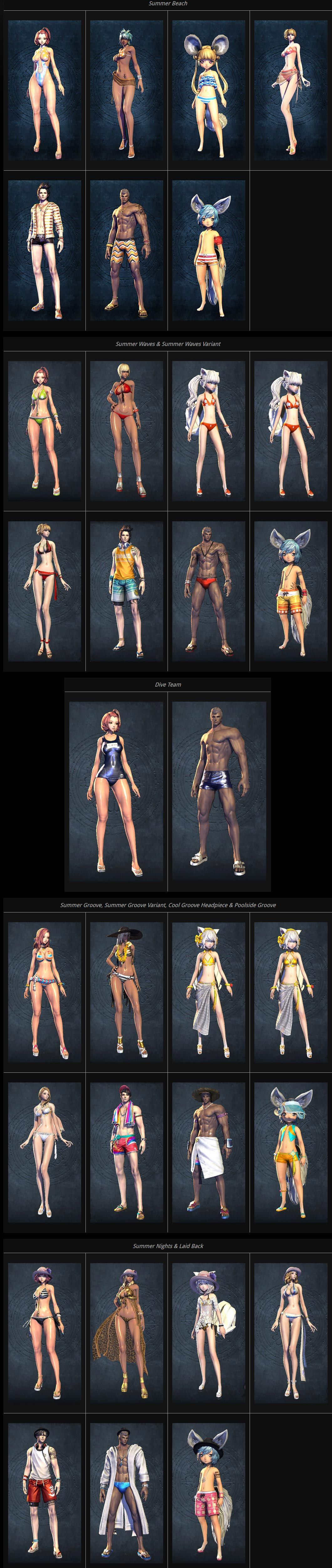 Blade and Soul swimsuits