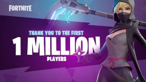 fortnite 1 million players