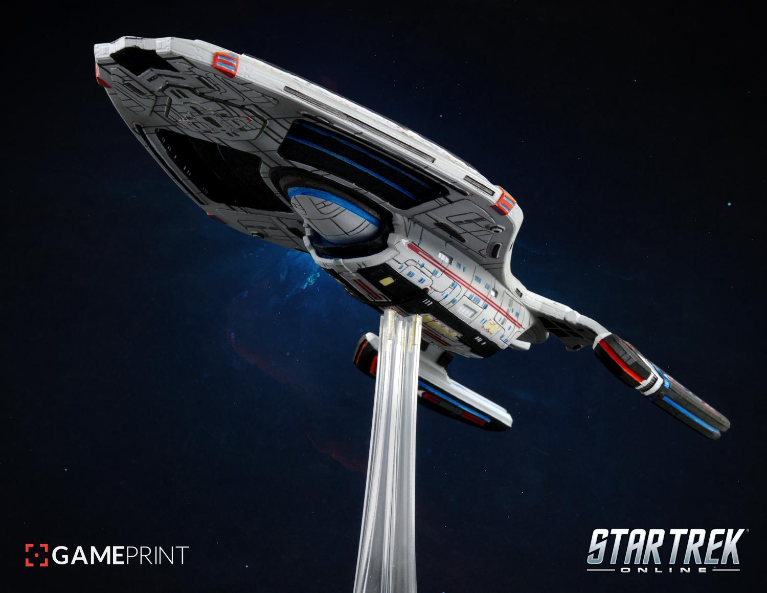 Star Trek Online 3D printed starships