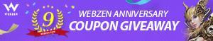 Webzen Free 9th Anniversary Giveaway