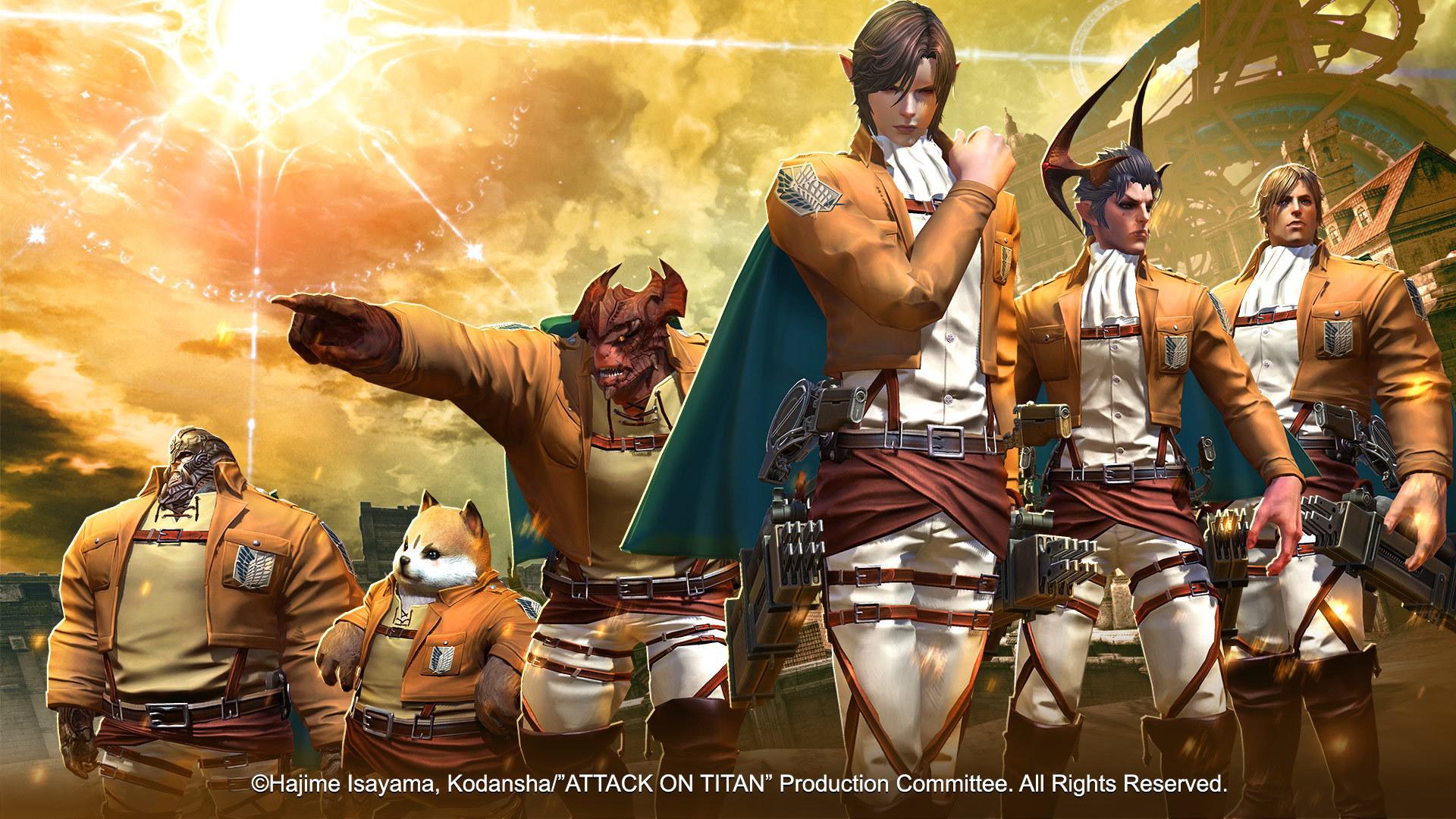 tera attack on titan crossover