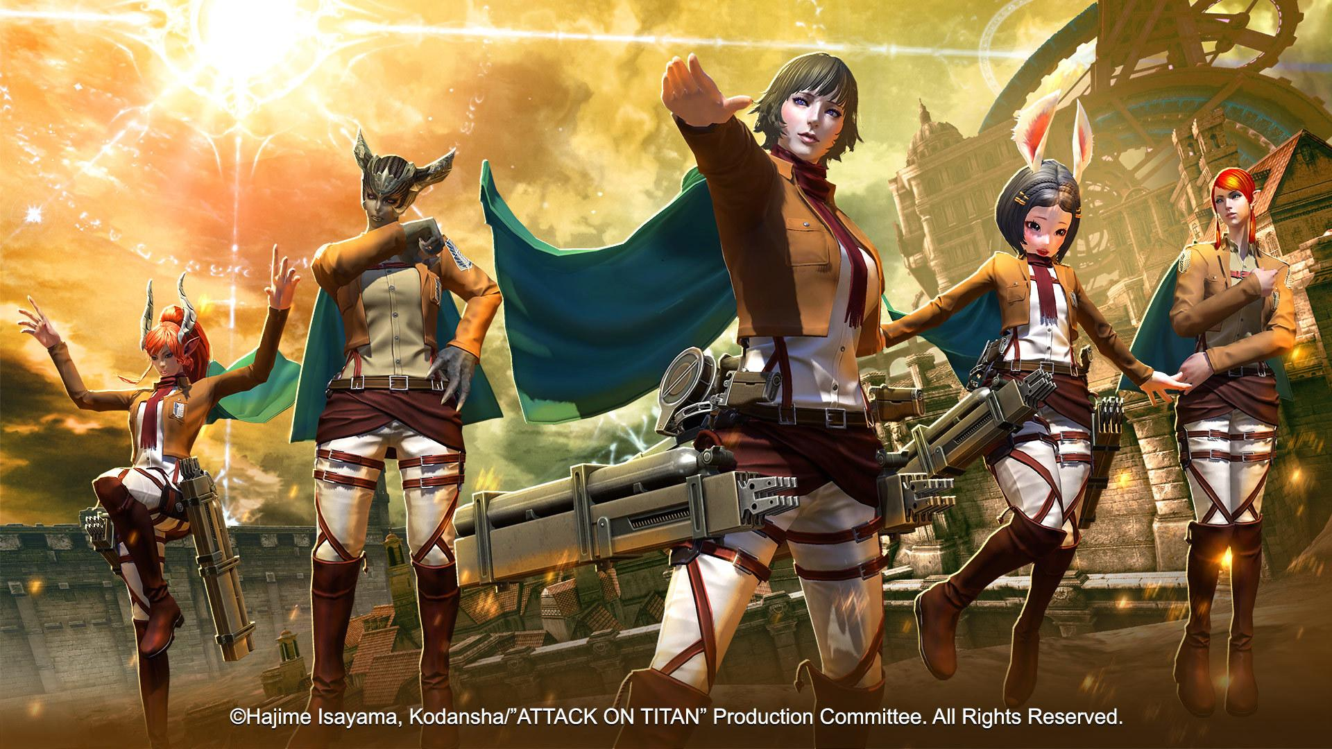 tera attack on titan crossover