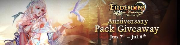 Eudemons Online Free Anniversary Pack Giveaway