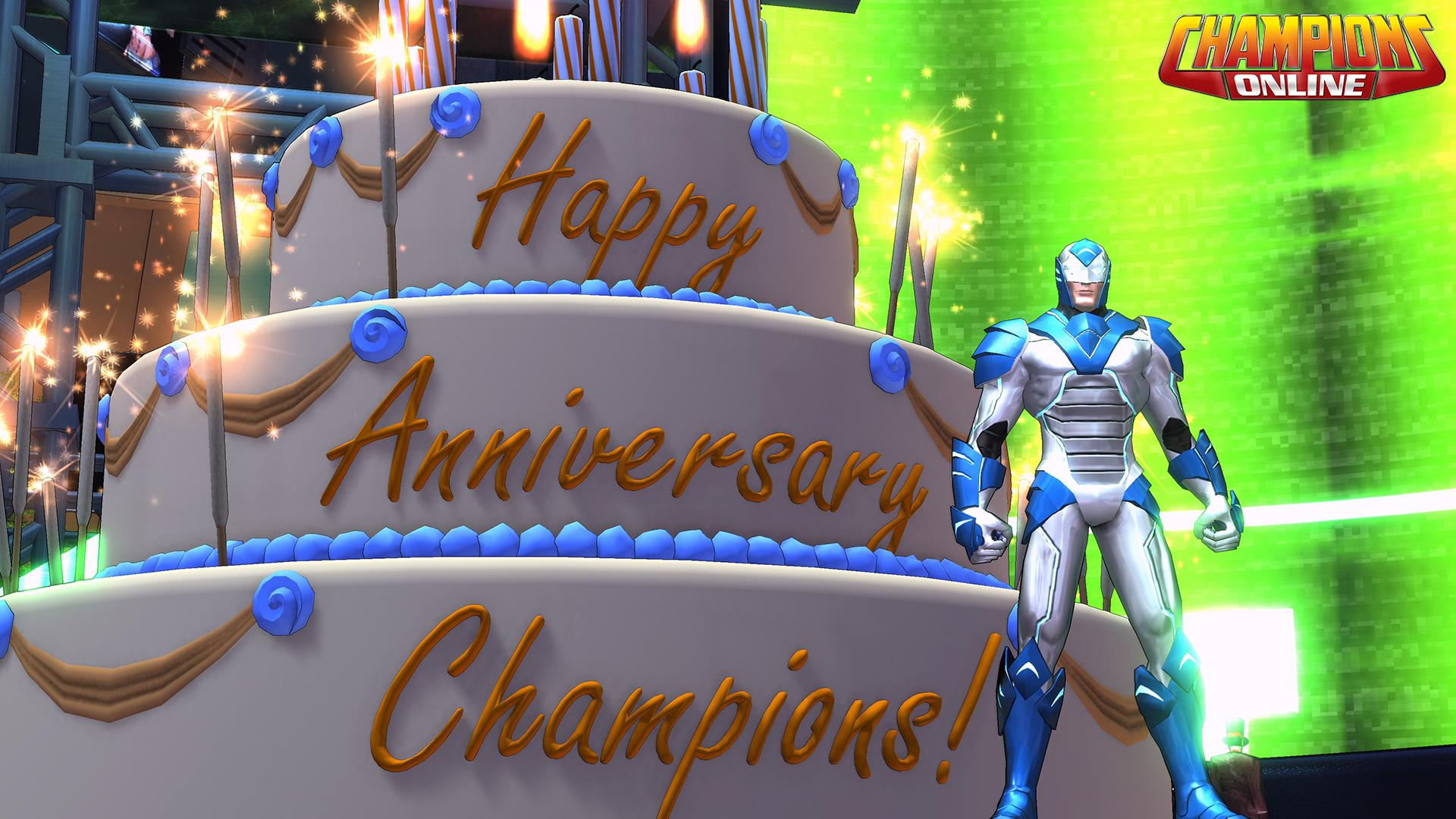 Champions Online 9th anniversary cats