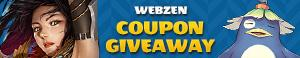 WEBZEN Free Summer Event Coupon Giveaway