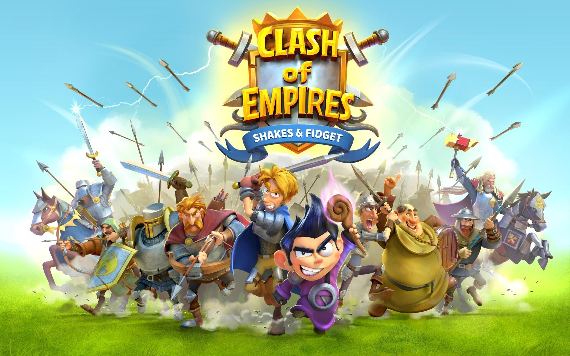 clash of empires shakes and fidget