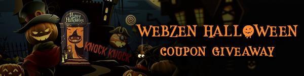 Webzen Free Halloween Coupon Giveaway