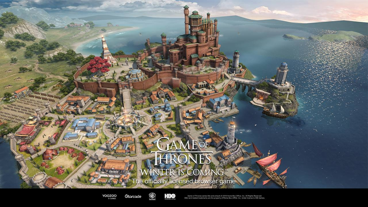 Game of Thrones Winter is Coming screen castle