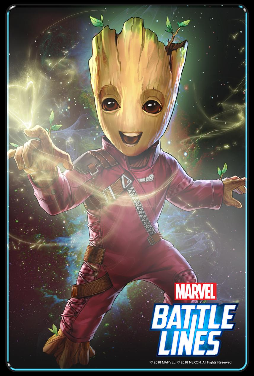 Marvel Battle Lines update Baby Groot