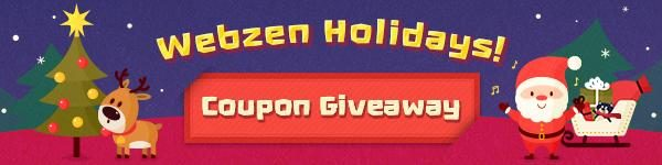Webzen Free Winter Holiday Coupon Giveaway