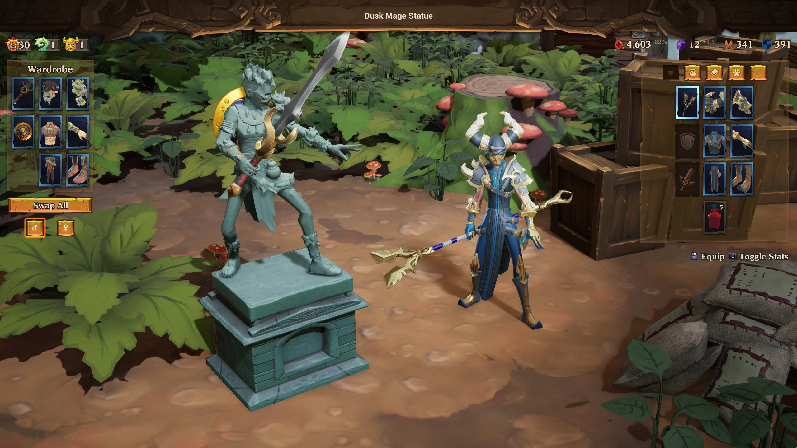 Torchlight Frontiers introduces wardrobes for all your gear set needs