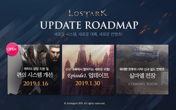 lost ark roadmap