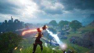 Spellbreak closed alpha preview mountain fireball