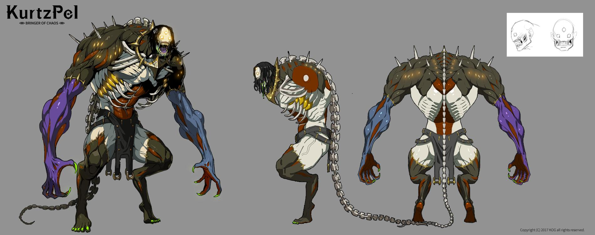 KurtzPel giant creature boss artwork