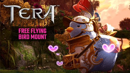 TERA 7th Anniversary Free Gift Pack and Bird Mount Giveaway