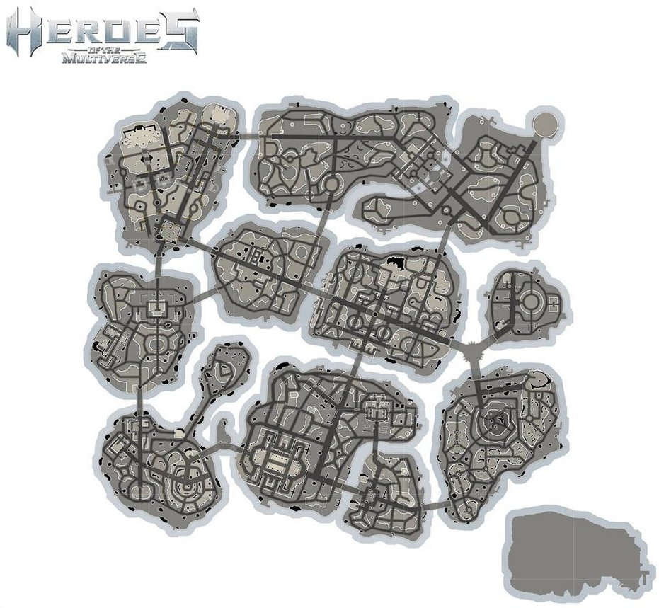 Heroes of the Multiverse map