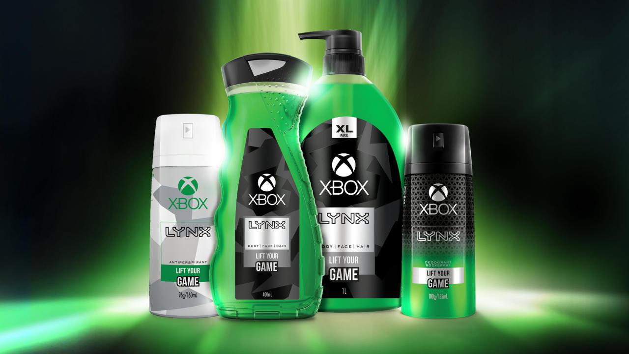Xbox body spray deodorant gel