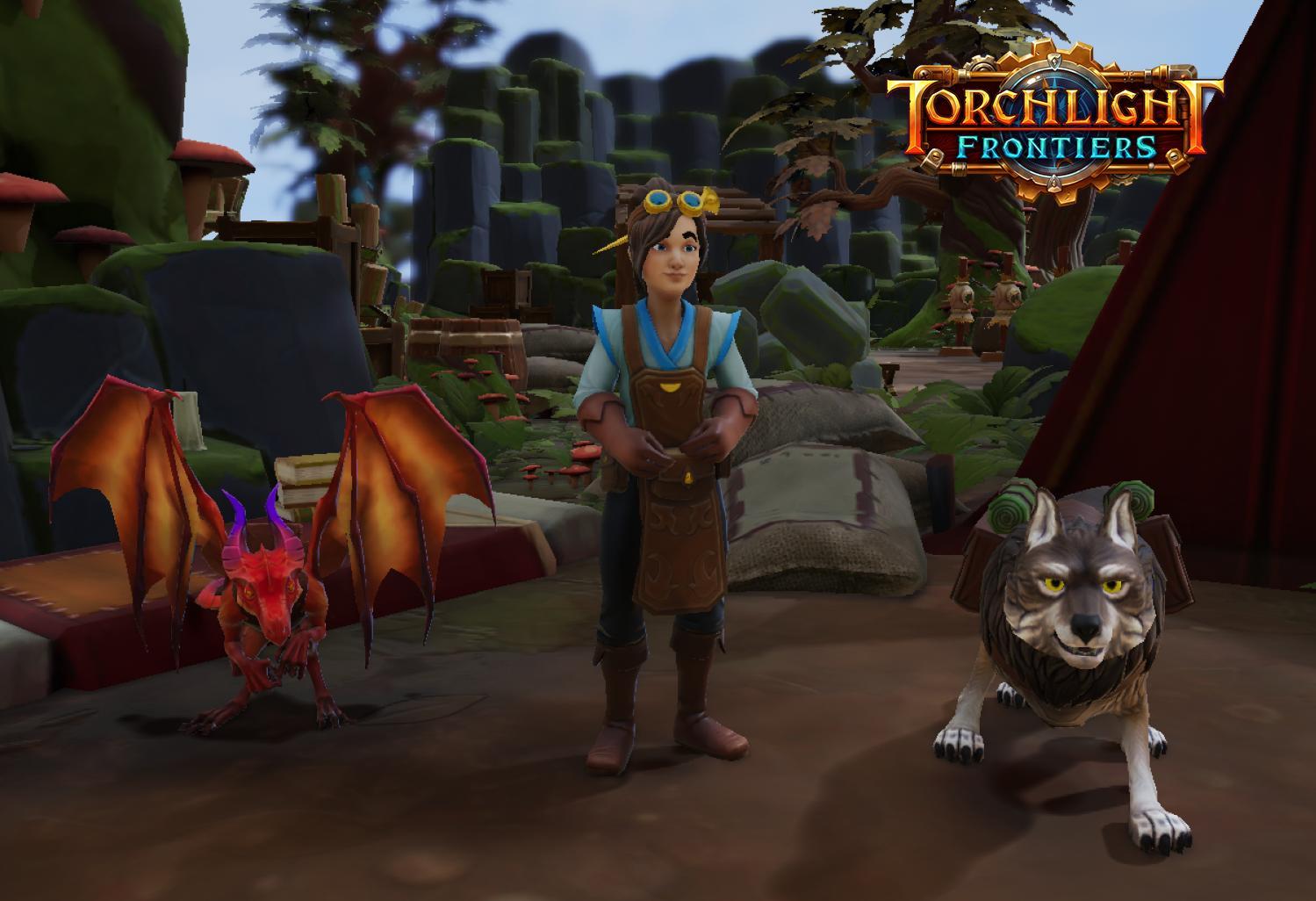 Torchlight Frontiers Beast Buddies pets Dragon Wolf