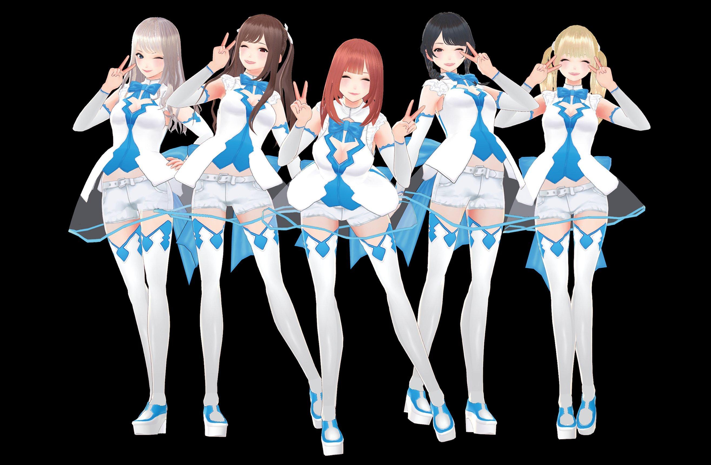 Cosprii love simulator 3D model Japanese cosplayers