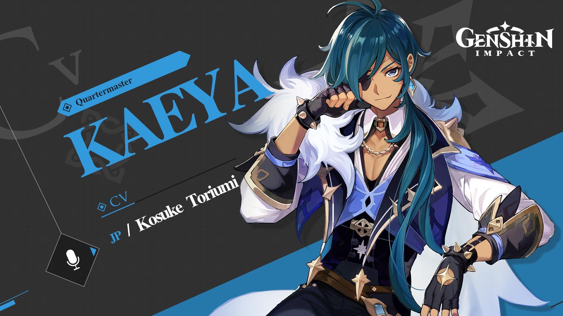 Genshin Impact Japanese character voices Kaeya