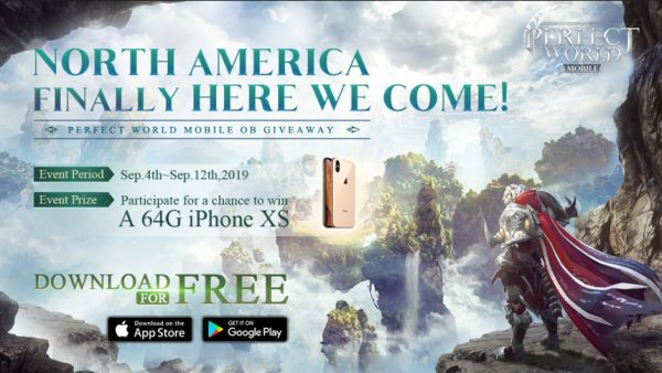 Perfect World Mobile North American launch 64G iPhone XS contest