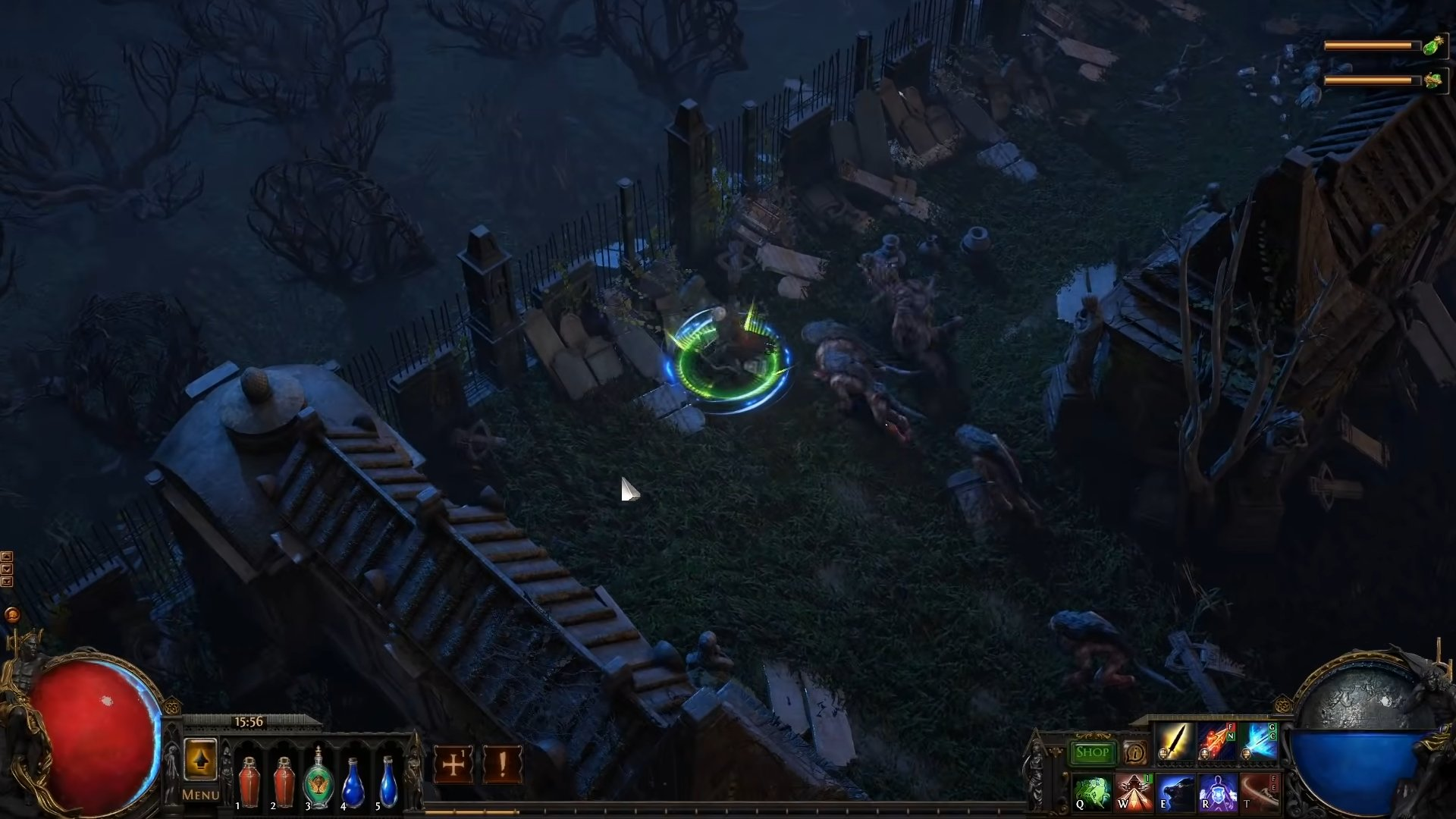 Path of Exile 2 gameplay graveyard