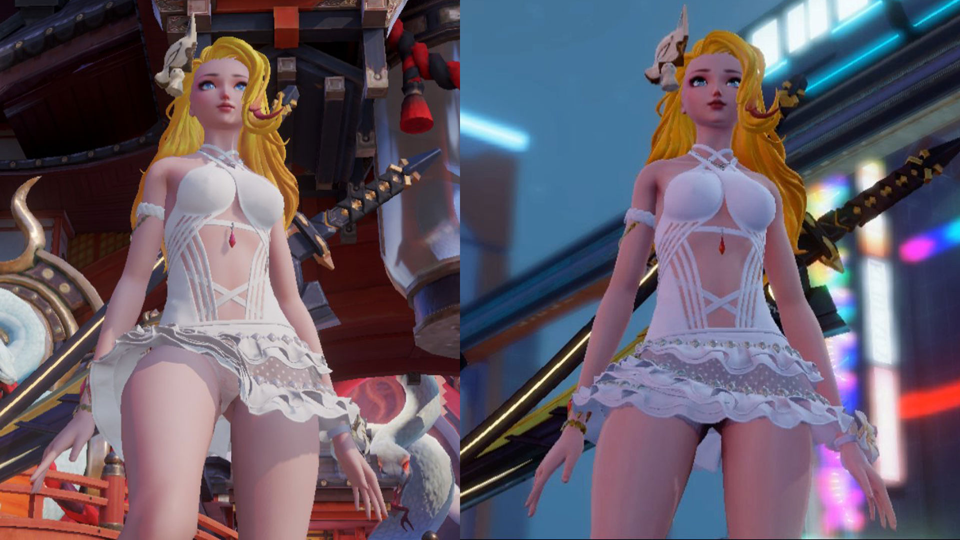 Dragon Raja Uncensored versus Censored comparison pic