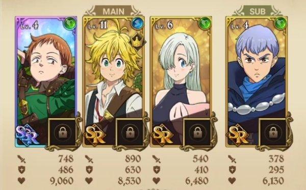 The Seven Deadly Sins Grand Cross Best Team Starters