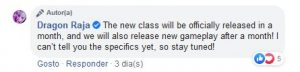 Dragon Raja New Class Fighter Date Revealed