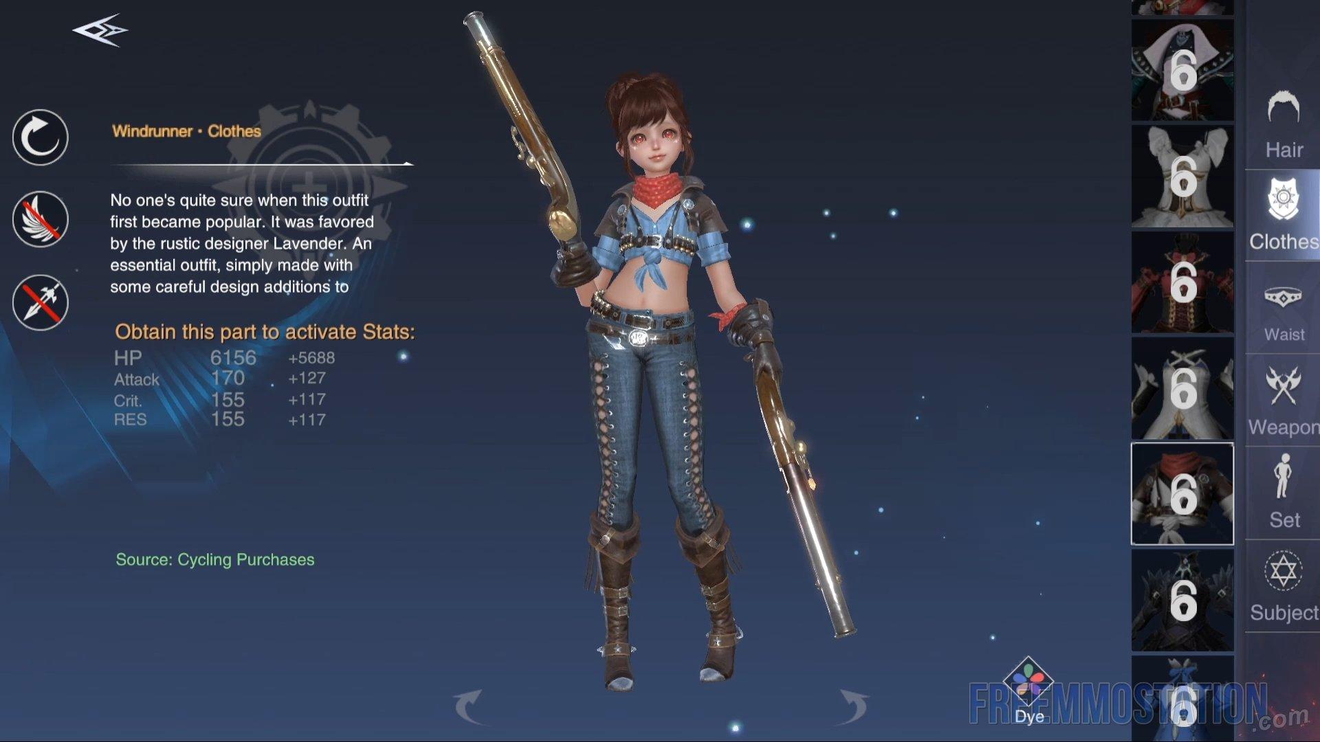 Forsaken World: Gods and Demons Gameplay Outfits