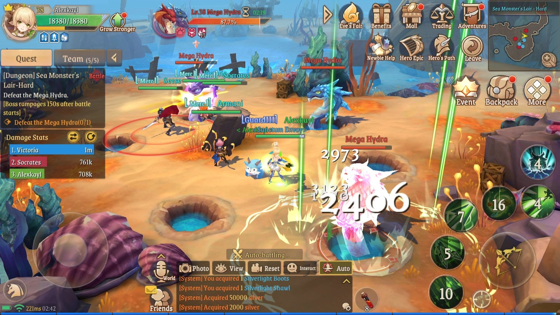 Stella Arcana English gameplay Sea Dungeon