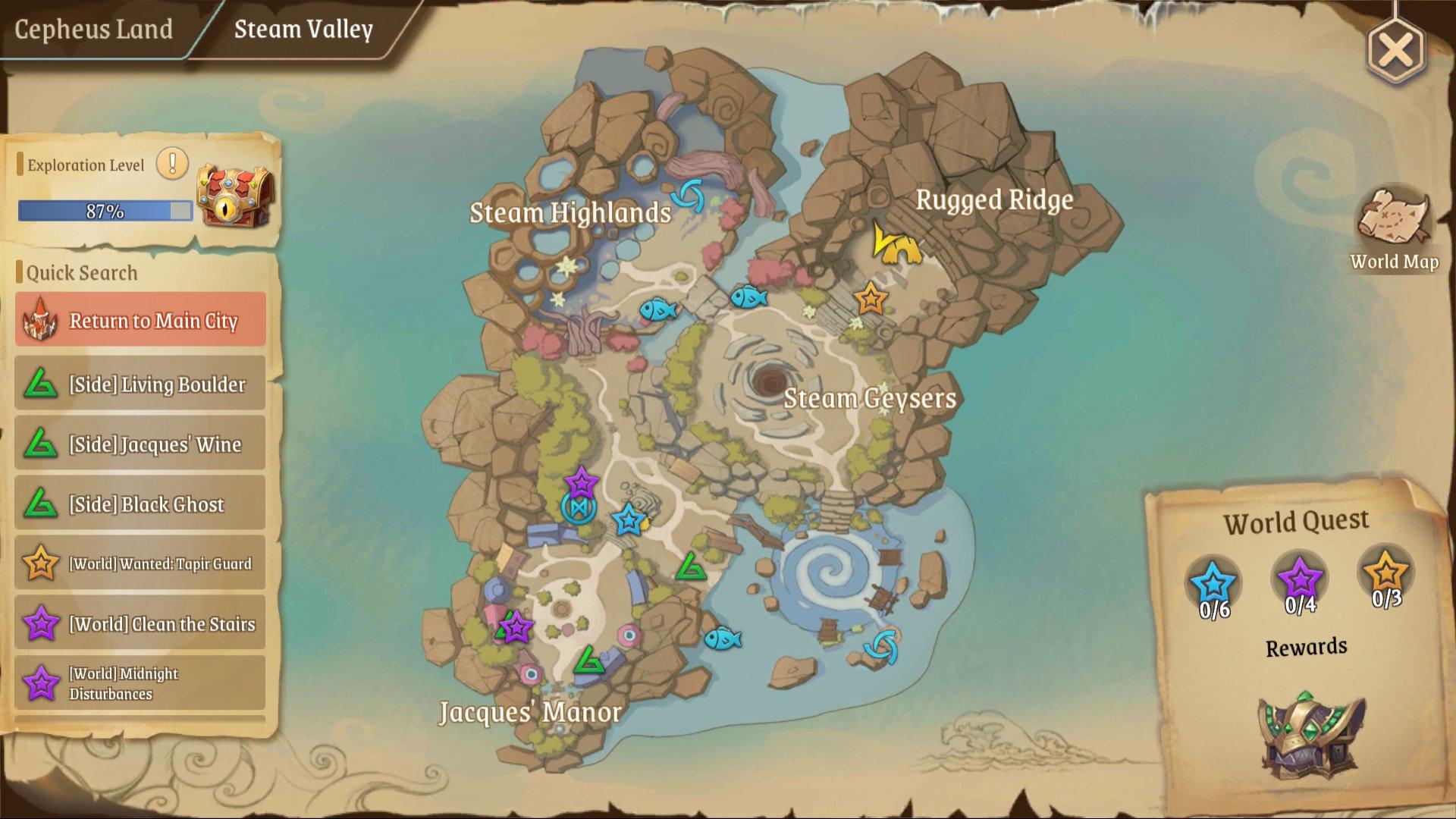 Treasure Map (L) 2: Steam Valley top near Steamy Cave entrance portal