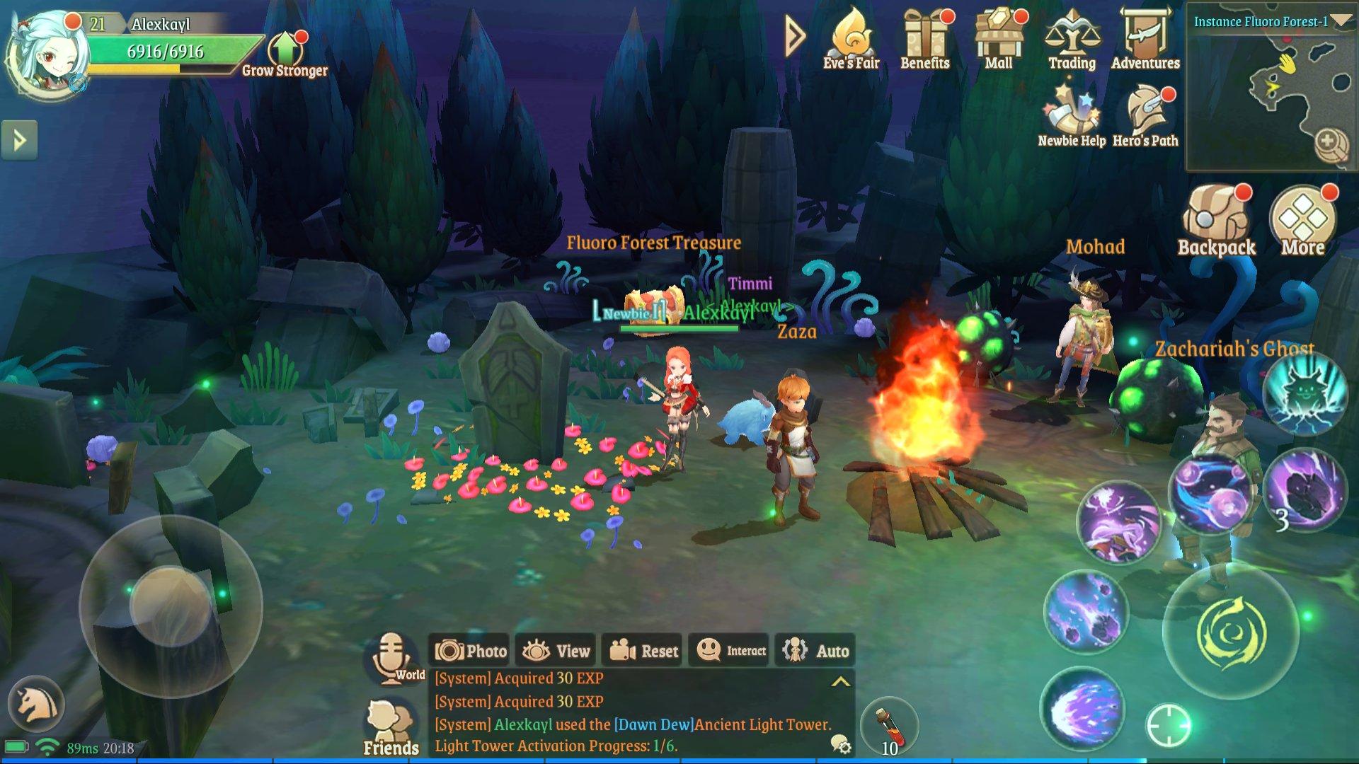 Treasure Map (L) 7: Fluoro Forest left area near the bonfire