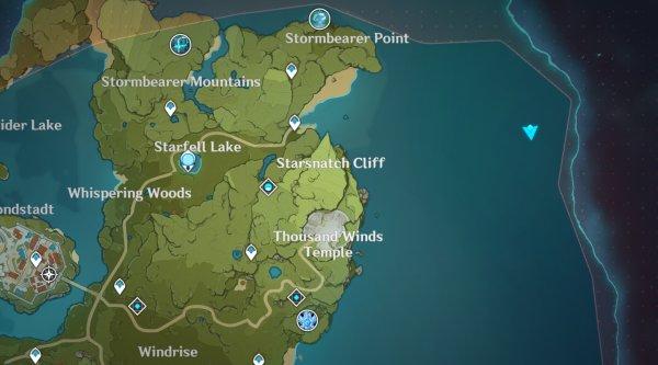 Genshin Impact Time and Wind Nameless Island