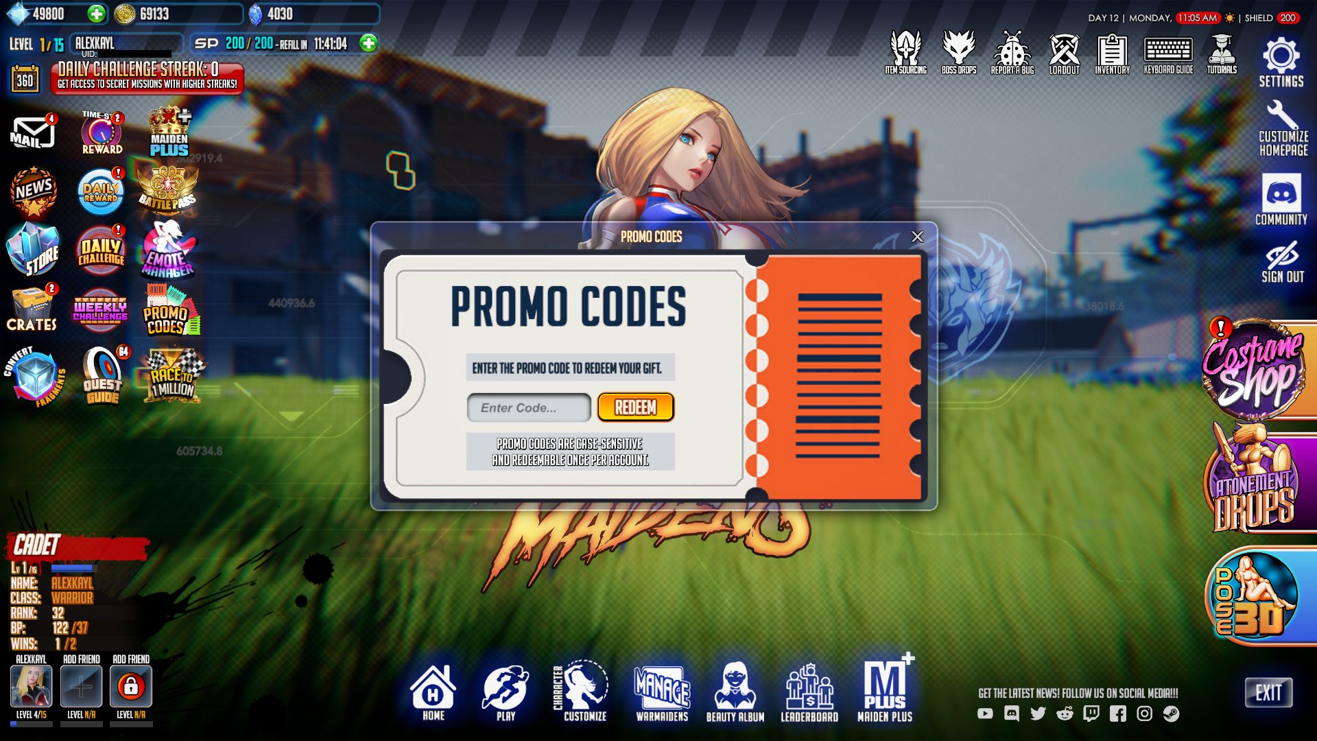 League of Maidens Promo Codes