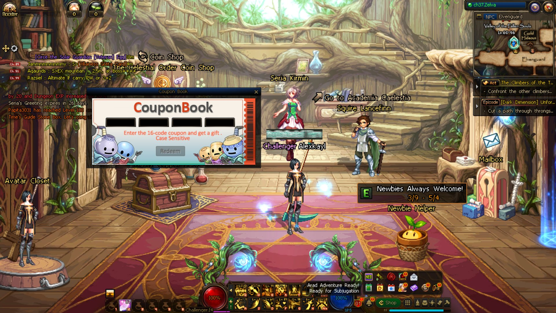 Dungeon Fighter Online Coupon Codes redeem guide