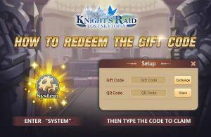 Knights Raid Lost Skytopia Gift Code Redeem Guide
