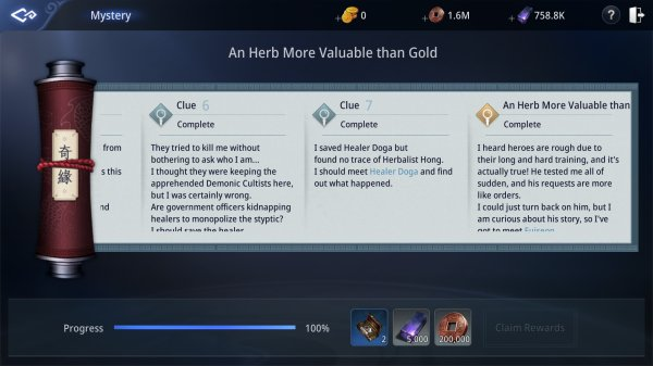 Mir 4 An Herb More Valuable than Gold Guide Myriad Needle Mystery Quest