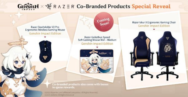 Genshin Impact Razer partnership